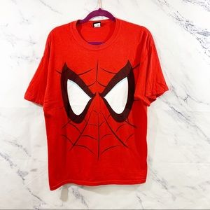 Spiderman Face Unisex Graphic Tee Large